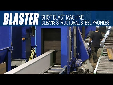 Ocean BLASTER Shot Blast machine for surface cleaning of all structural steel profiles