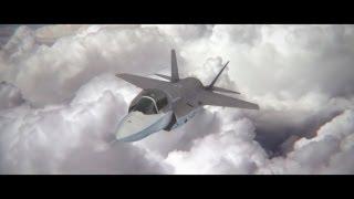 getlinkyoutube.com-Jet Dogfight -  F35 Lightning vs SU35 Flanker - Animated with Element 3D