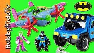 getlinkyoutube.com-Joker Imaginext PLANE! Gotham City Jail, Batman Toys Battle + Review HobbyKidsTV