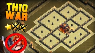 Clash of Clans | Best Town Hall 10 (TH10) War Base | Anti Valkyrie, Anti 2 Star Base + PROOF [2016]