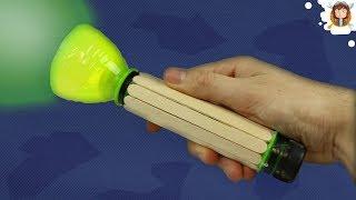 getlinkyoutube.com-How to Make a Flashlight using Plastic Bottles