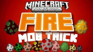 getlinkyoutube.com-✔️Minecraft PE - FIRE MOB TRICK // [REDSTONE] mob fire texture trick [MCPE 0.14.2]