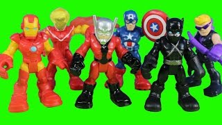 Marvel Super Hero Adventures Super Jungle Squad Iron Man Captain America Battle Imaginext Villains
