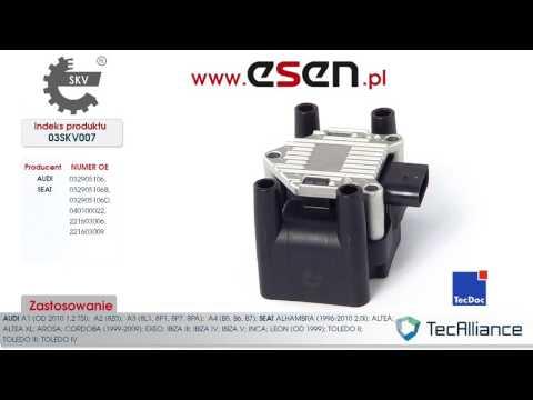 Cewka zaplonowa Audi A2 Audi A3 Audi A4 Seat Ibiza Seat Toledo Seat Leon OE 32905106, 221603009