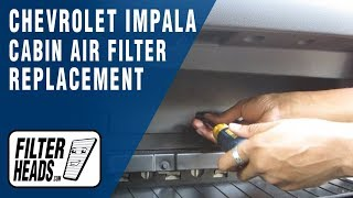 getlinkyoutube.com-Cabin air filter replacement - Chevrolet Impala