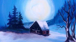 getlinkyoutube.com-Bob Ross in Acrylic Ways You Can Still Paint Along