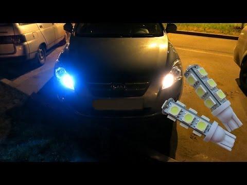 Светодиодные лампы в габариты с eBay.com LED Car Lamp