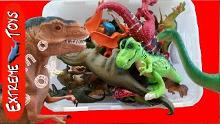 Huge Surprise Box of Dinosaur Toys!  Jurassic World, and Imaginext Dinosaur Toys Included.
