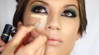 getlinkyoutube.com-Colorful Make up using: Lila,Pink,Green by Visagiste Rafika