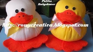 getlinkyoutube.com-Manualidades para  BABY SHOWER - PATITOS de tela / Ronycreativa