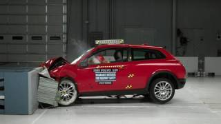 getlinkyoutube.com-2009 Volvo C30 moderate overlap IIHS crash test