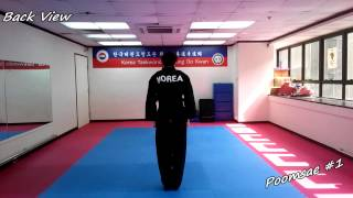 getlinkyoutube.com-Taekwondo - Poomsae 1 (Il Jang) Slow-motion & Mirror