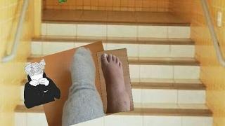 Cai da escada do colégio!Quebrei meu pé?? ▪Laura Pasyn▪