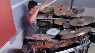 getlinkyoutube.com-Fucking With Fire - Drum Cover- Edguy