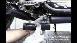 getlinkyoutube.com-Escapamento Esportivo Curto Disarsz Yamaha FAZER 250