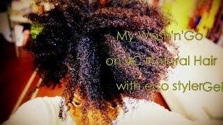getlinkyoutube.com-Wash'n'go on 4c/4b hair with eco styler gel