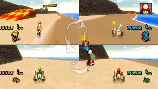 getlinkyoutube.com-Mario Kart Wii - CTGP Revolution (v1.02 beta) - Offline Races (4 Players, Splitscreen)