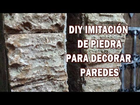 DIY IMITACIÓN DE PIEDRA RUSTICA, hazlo tu y decora tu casa