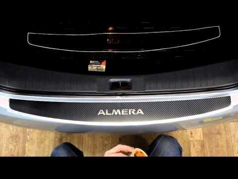 Наклейка на бампер для Nissan Almera