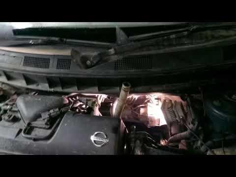 Снятие радиатора печки на Nissan cube