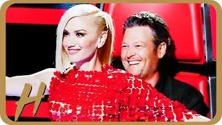 getlinkyoutube.com-Gwen Stefani & Blake Shelton Flirt BIG TIME on 'The Voice'