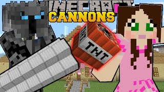 getlinkyoutube.com-Minecraft: CANNONS & FLAMETHROWERS! (TNT & FIRE EVERYWHERE!!) Custom Command