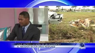 ¿Qué hacer a la hora de un accidente de auto? El abogado Víctor Arias responde
