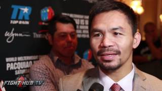 getlinkyoutube.com-Manny Pacquiao laughs at Floyd Mayweather wanting to fight Conor McGregor