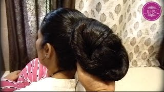 getlinkyoutube.com-Knee Length Extra Thick Hair Oiling, Combing & Buning By Male