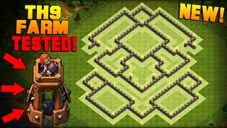 getlinkyoutube.com-Clash of Clans | Town Hall 9 (TH9) Farming Base w/ NEW BOMB TOWER | BEST Hybrid Base + PROOF [2016]