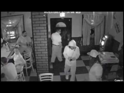 Surveillance video of Newark bar robbery