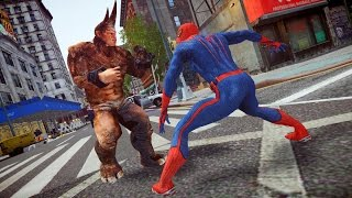 getlinkyoutube.com-The Amazing Spiderman Vs Rhino Epic Battle