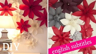 getlinkyoutube.com-Weihnachtsdeko basteln - Papierblüten Tutorial / christmas flower How-to| Deko Kitchen