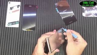getlinkyoutube.com-Como trocar a frontal (touch e display) do Sony Xperia Z3
