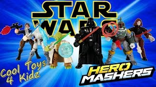 Star Wars Hero Mashers Darth Vader Yoda Boba Fett Luke Skywalker Han Solo Palpatine