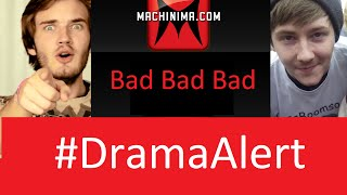 getlinkyoutube.com-PewDiePie Roasts Machinima! #DramaAlert - Interview with Rossboomsocks