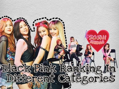 BlackPink Ranking In Different Categories