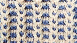 getlinkyoutube.com-Dos Agujas: Punto en Dos Colores