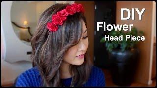 getlinkyoutube.com-DIY Flower Crown Headband
