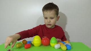 Тачки яйца с сюрпризом открываем игрушки Cars unboxing  plastic surprise eggs