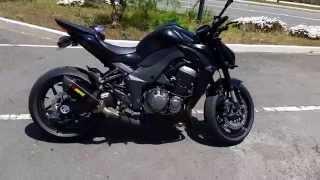 getlinkyoutube.com-Black 2015 Kawasaki Z1000 full Akrapovic Exhaust