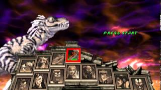 Primal Rage 2 Full Character Select (Shows off Dino-Gods!!!!!)