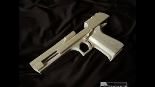 getlinkyoutube.com-Blowback rubber band gun : Assembly - Desert Eagle Type