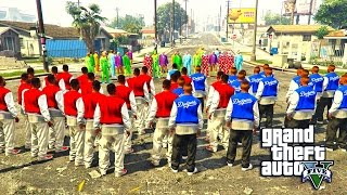getlinkyoutube.com-GTA 5 - KILLER CLOWNS VS BLOODS AND CRIPS PART 2