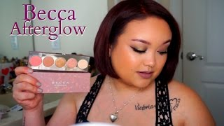 Becca Afterglow Palette | Review | Swatches | Demo