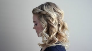 getlinkyoutube.com-Curls using 2 different curling irons