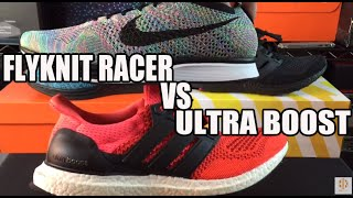 getlinkyoutube.com-Nike Flyknit Racer vs Adidas Ultra Boost Comparison Video Review