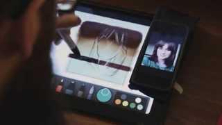 getlinkyoutube.com-Paper by 53 iPad speed painting drawing portrait of @LizzieBeth_