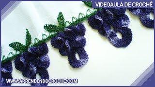 getlinkyoutube.com-Barrado de Croche Uvas - 1º Parte - Aprendendo Crochê