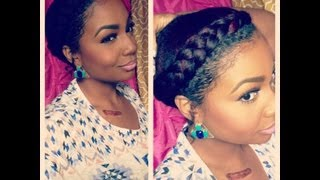 getlinkyoutube.com-Natural Hair Style: Goddess Braid